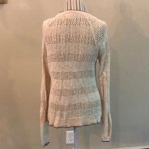 Lucky Brand Sweaters - Lucky Brand Open Knit light Cardigan Sz L